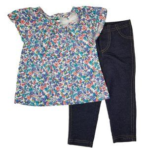 Carter's Baby Girl Floral Top and Leggings Outfit